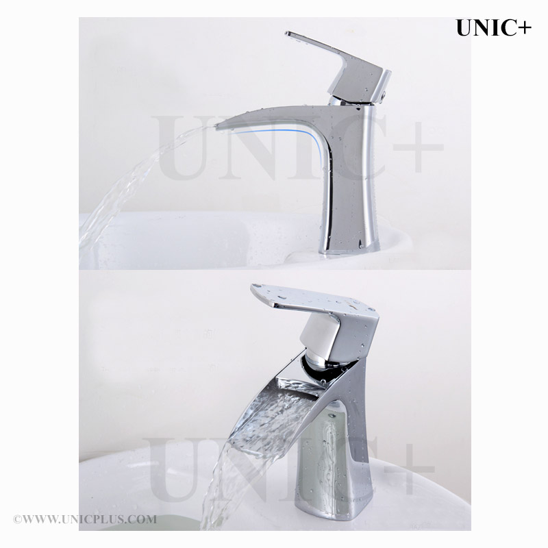 Waterfall Style Solid Brass Bathroom Lavatory Faucet ...