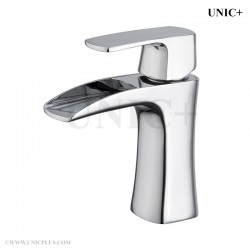 waterfall style solid brass bathroom lavatory faucet blf004