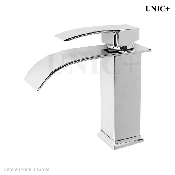 Modern Waterfall Style Solid Brass Bathroom Lavatory Faucet BLF005 in Vancouver