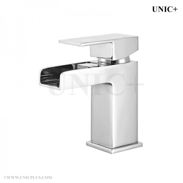 Modern Waterfall Style Solid Brass Bathroom Lavatory Faucet BLF010 in Vancouver