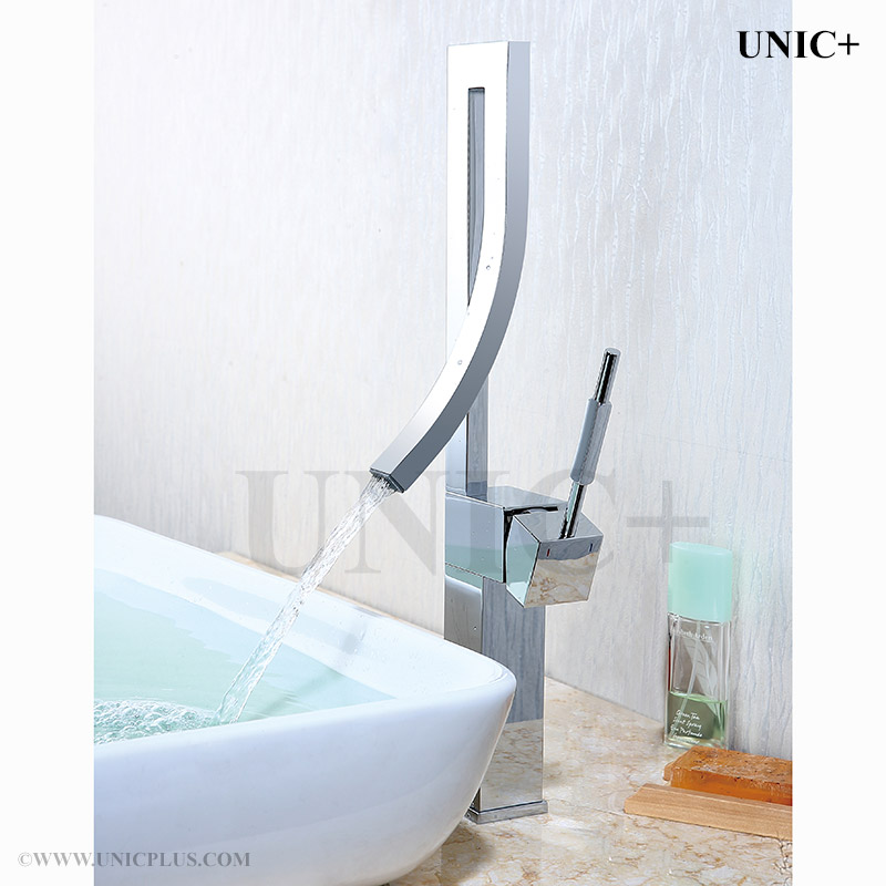 bathroom fixtures vancouver waterfall style curved spouse bathroom vessel sink faucet bvf002