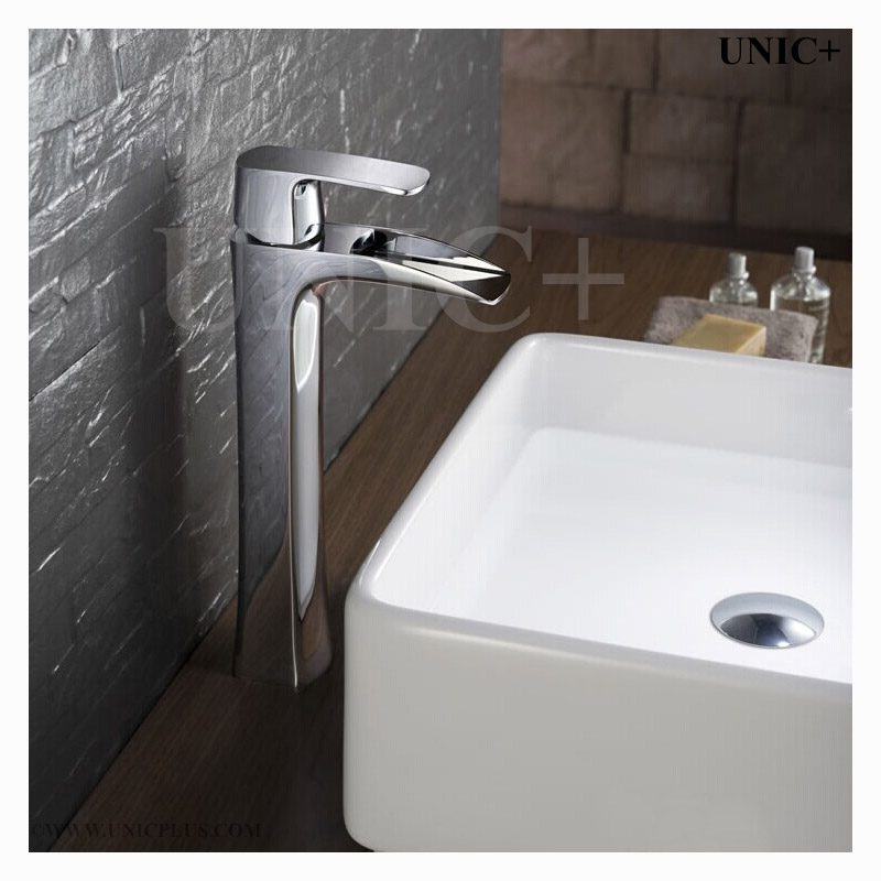 waterfall style solid brass bathroom vessel sink faucet bvf004 in vancouver
