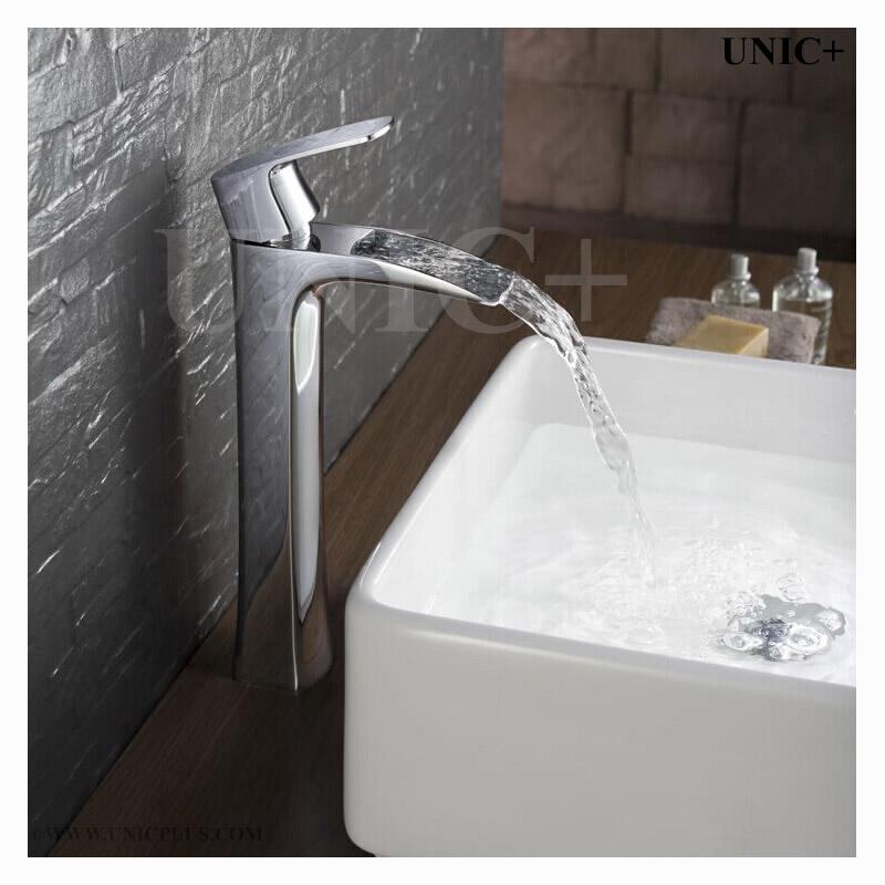 Waterfall Style Solid Brass Bathroom Vessel Sink Faucet Bvf004 In