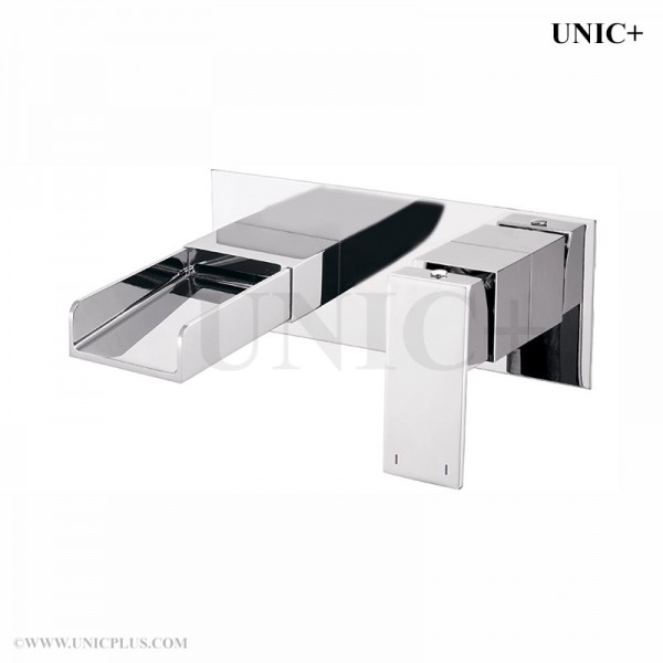 Modern Solid Brass Bathroom Wall Mount Waterfall Faucet BWF004 in Vancouver