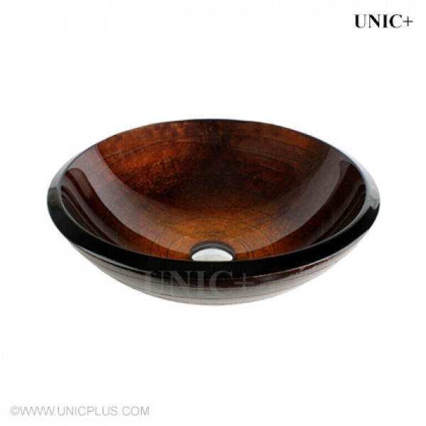 Modern Hand Painted Tempered Glass Bathroom Vessel Sink - BVG001 in Vancouver