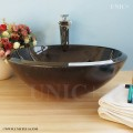Modern Hand Painted Tempered Glass Bathroom Vessel Sink - BVG002 in Vancouver