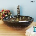 Modern Hand Painted Tempered Glass Bathroom Vessel Sink - BVG004 in Vancouver