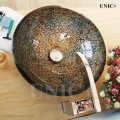 Modern Hand Painted Tempered Glass Bathroom Vessel Sink - BVG005 in Vancouver