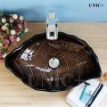 Modern Hand crafted Leaf Shape Tempered Glass Bathroom Vessel Sink - BVG006 in Vancouver