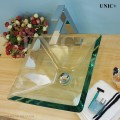 Modern Square Shape Clear Tempered Glass Bathroom Vessel Sink - BVG007 in Vancouver