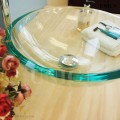 Modern Clear Tempered Glass Bathroom Vessel Sink - BVG008 in Vancouver