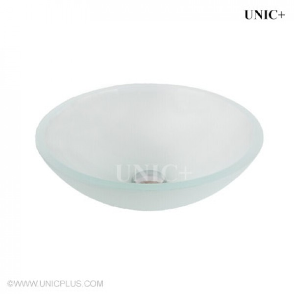 Modern Frosted Tempered Crystal Glass Bathroom Vessel Sink - BVG010 in Vancouver