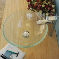 Modern Broken Glass Style Tempered Crystal Glass Bathroom Vessel Sink - BVG011 in Vancouver