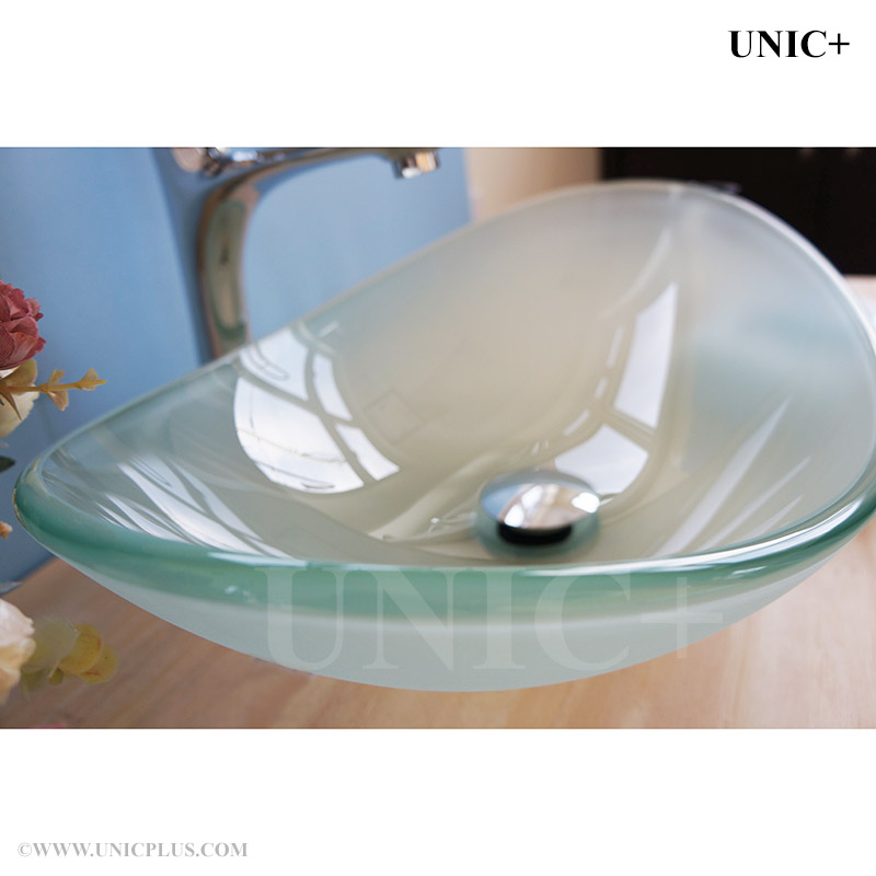 Bathroom Sinks Vancouver Bc oval shape frosted tempered crystal glass bathroom vessel sink