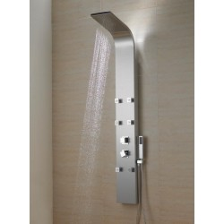 Stainless Steel Massage Jets Bathroom Shower Panel Column brushed nickel - BSP002