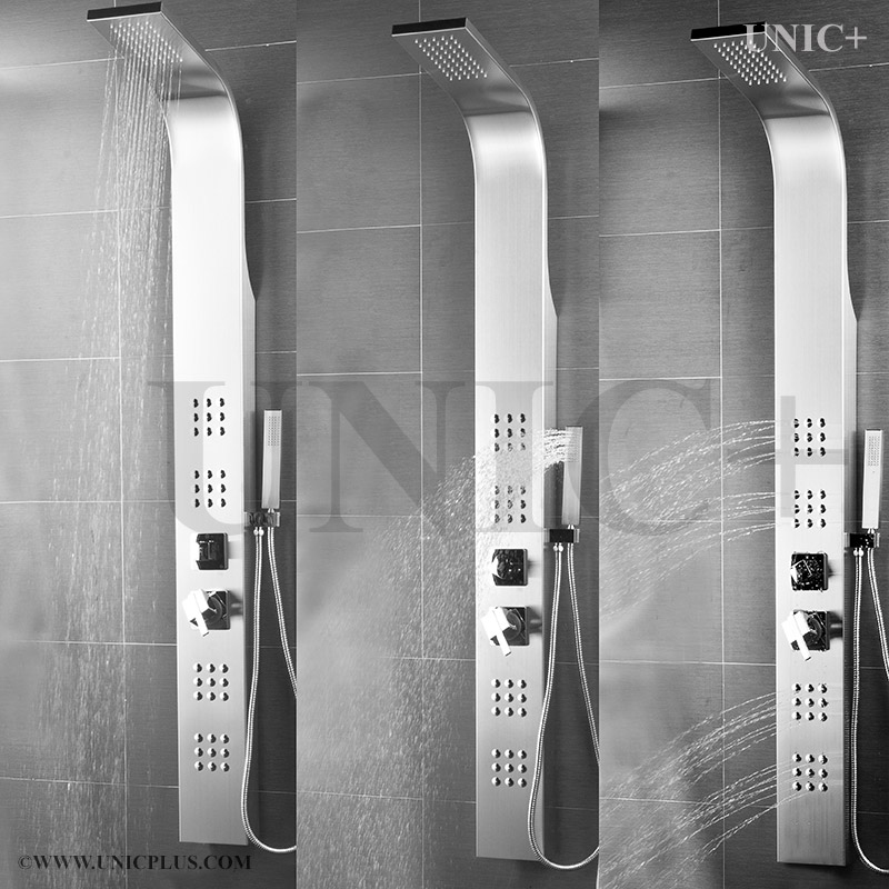 Kitchen Faucets Vancouver Bc: Stainless Steel Massage Jets Bathroom Shower Panel Column