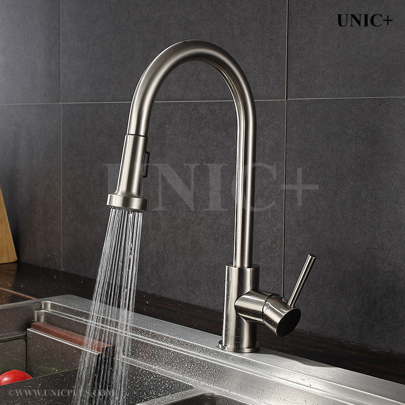 Pull Out Style Solid Brass Kitchen Faucet - KPF001 in Vancouver