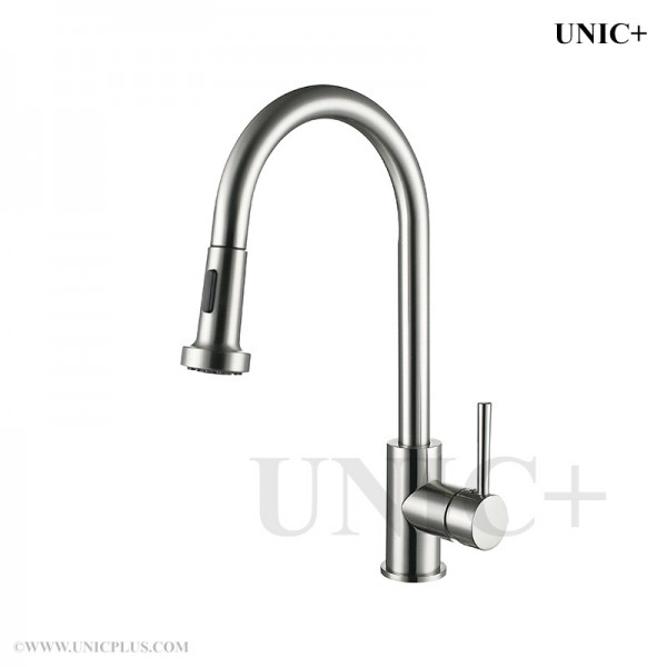 Modern Pull Out Style Solid Brass Kitchen Faucet - KPF001 in Vancouver