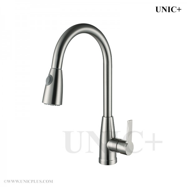 Modern Pull Out Style Solid Brass Kitchen Faucet - KPF002 in Vancouver