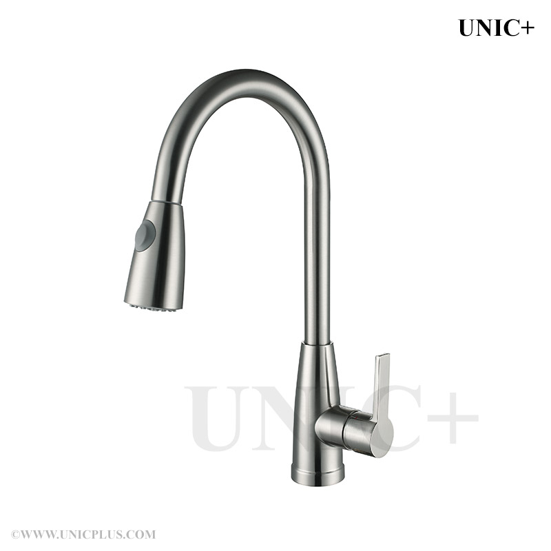 Pull Out Style Solid Brass Kitchen Faucet - KPF002 in Vancouver