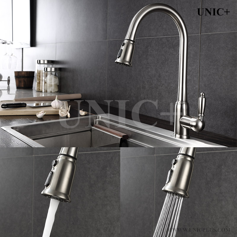 Pull Out Style Solid Brass Kitchen Faucet Kpf003 In