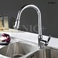 Modern Pull Out Style Solid Brass Kitchen Faucet - KPF003 in Vancouver