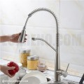 Modern Pull Down Style Solid Brass Kitchen Faucet - KPF004 in Vancouver
