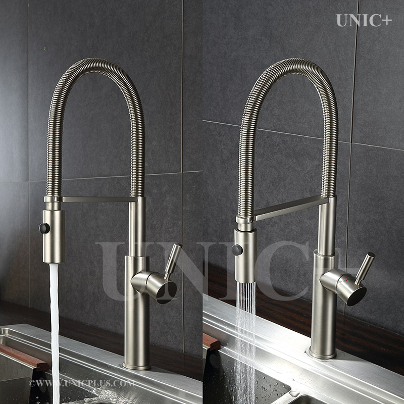 Modern Pull Down Style Solid Brass Kitchen Faucet Kpf007 In Vancouver