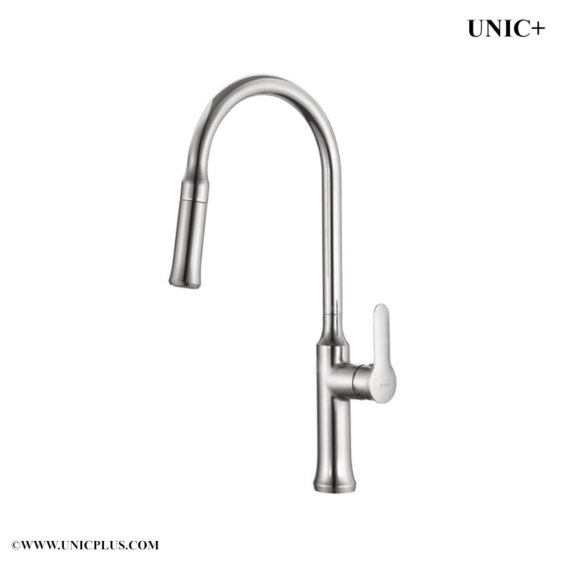 Pull Out Style Solid Brass Kitchen Faucet - KPF008 in Vancouver