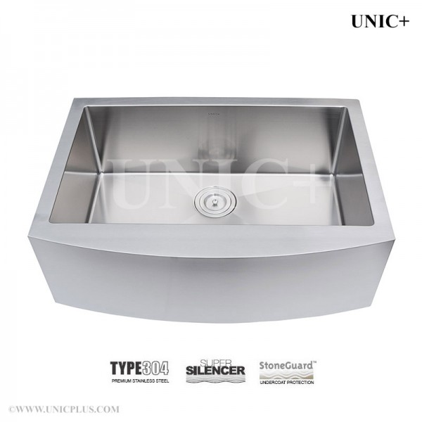 Modern 30 Inch Small Radius Stainless Steel Farm Apron Kitchen Sink - KAR3021 in Vancouver