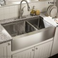 Modern 33 Inch Small Radius Stainless Steel Farm Apron Kitchen Sink - KAR3321D in Vancouver