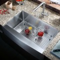 Modern 33 Inch Small Radius Stainless Steel Farm Apron Kitchen Sink - KAR3321S in Vancouver
