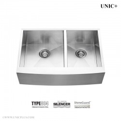 33 Inch Zero Radius Stainless Steel Farm Apron Kitchen Sink - KAD3321B Z