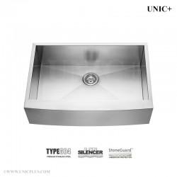 33 Inch Zero Radius Stainless Steel Farm Apron Kitchen Sink - KAS3321S