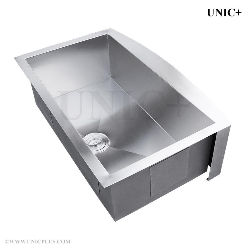 36 Inch Zero Radius Stainless Steel Farm Apron Kitchen Sink ...