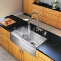 Modern 33 Inch Zero Radius Stainless Steel Farm Apron Kitchen Sink - KAS3321S in Vancouver
