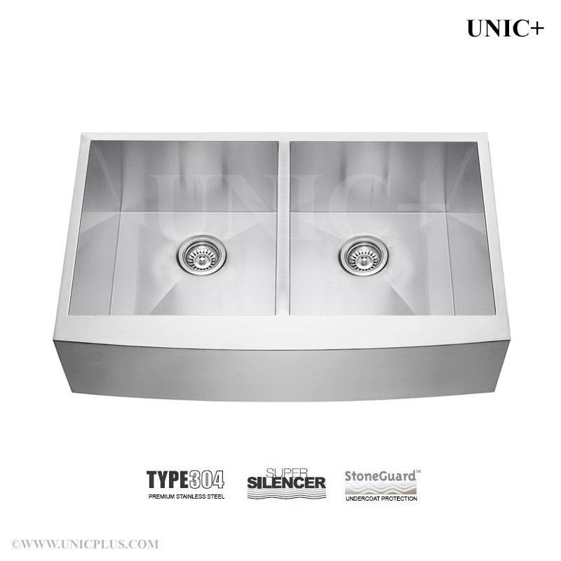 36 Inch Zero Radius Stainless Steel Farm Apron Kitchen Sink