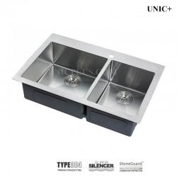 "30"" double bowl 50/50 or 60/40 split Small Radius Top Mount Kitchen Sink- KTD3021A (B)"