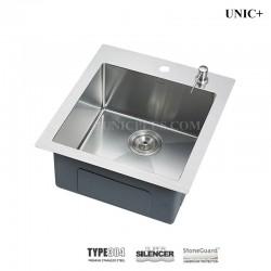 19 Inch Small Radius Stainless Steel Top Mount Kitchen Sink - KTS1921 R