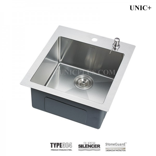 Modern 19 Inch Small Radius Stainless Steel Top Mount Kitchen Sink - KTR1921 in Vancouver