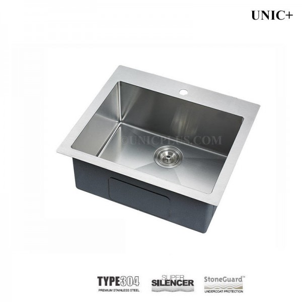 Modern 24 Inch Small Radius Stainless Steel Top Mount Kitchen Sink - KTR2421in Vancouver