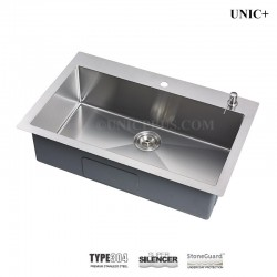 27 Inch Small Radius Stainless Steel Top Mount Single bowl Kitchen Sink - KTS2721 R