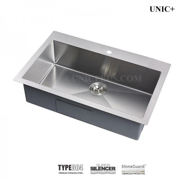 Modern 27 Inch Small Radius Stainless Steel Top Mount Kitchen Sink - KTR2721in Vancouver