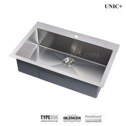 30 Inch Small Radius Stainless Steel Top Mount Single bowl Kitchen Sink - KTS3021 R