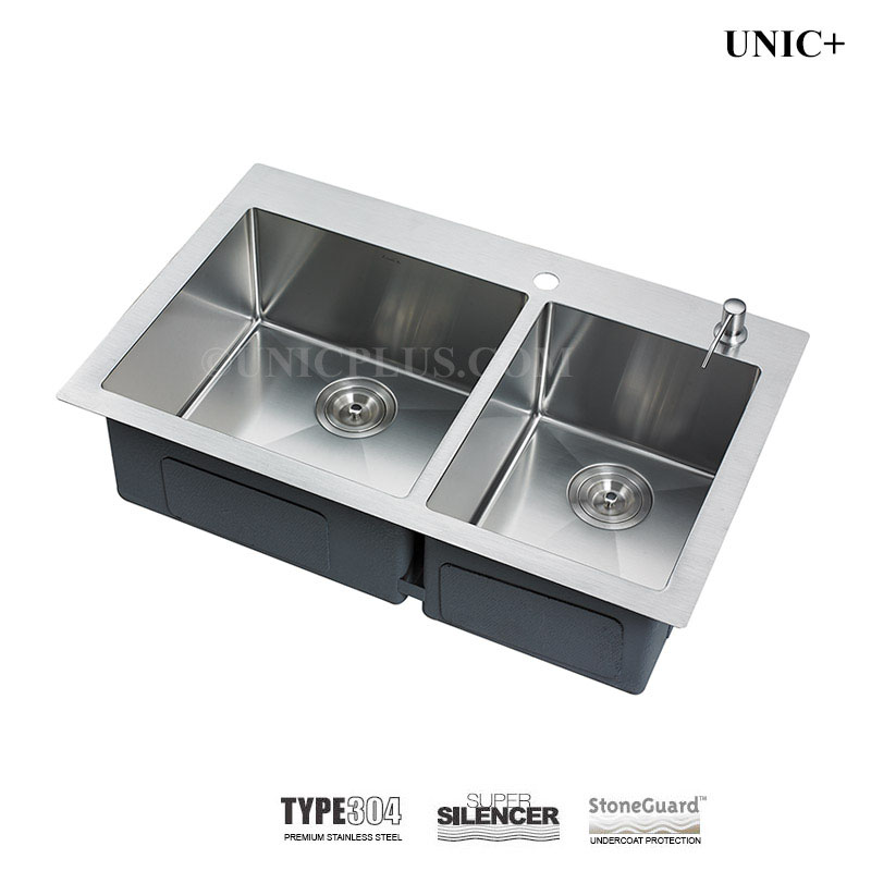 33 Inch Small Radius Stainless Steel Top Mount Kitchen Sink ...