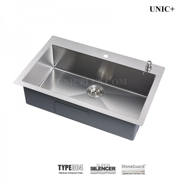 Modern 33 Inch Small Radius Stainless Steel Top Mount Kitchen Sink - KTR3321S in Vancouver