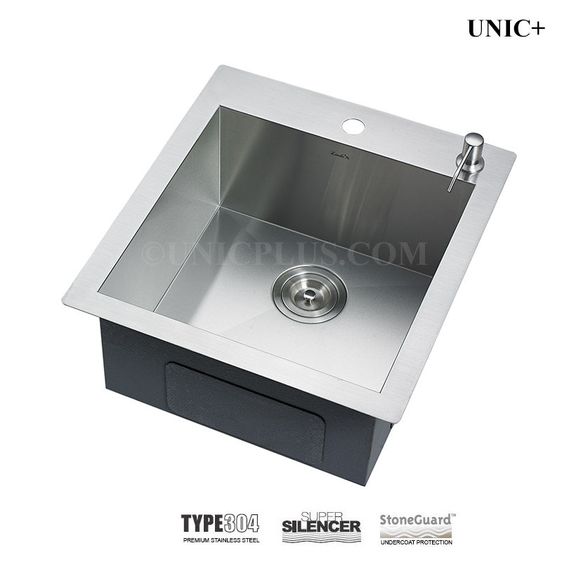 top mounted kitchen sinks 19 inch zero radius stainless steel top mount kitchen sink 6301