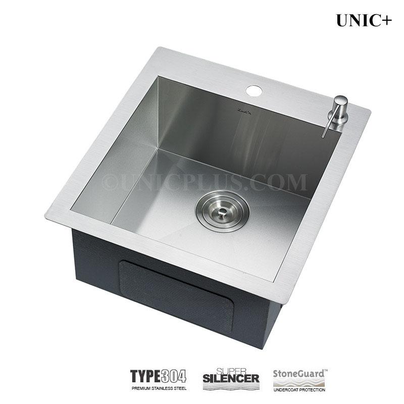 19 inch zero radius stainless steel top mount kitchen sink - kts1921