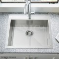 Modern 19 Inch Zero Radius Stainless Steel Top Mount Kitchen Sink - KTS1921 in Vancouver