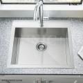 Modern 24 Inch Zero Radius Stainless Steel Top Mount Kitchen Sink - KTS2421 in Vancouver